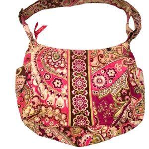 Vera Bradley Quilted Paisley Print Shoulder Bag.